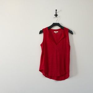 Madewell Red Whisper Cotton tank top xs